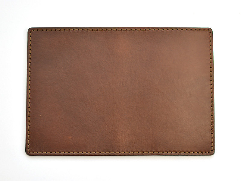 81 Pass ID cover holder  trips natural leather    BACK