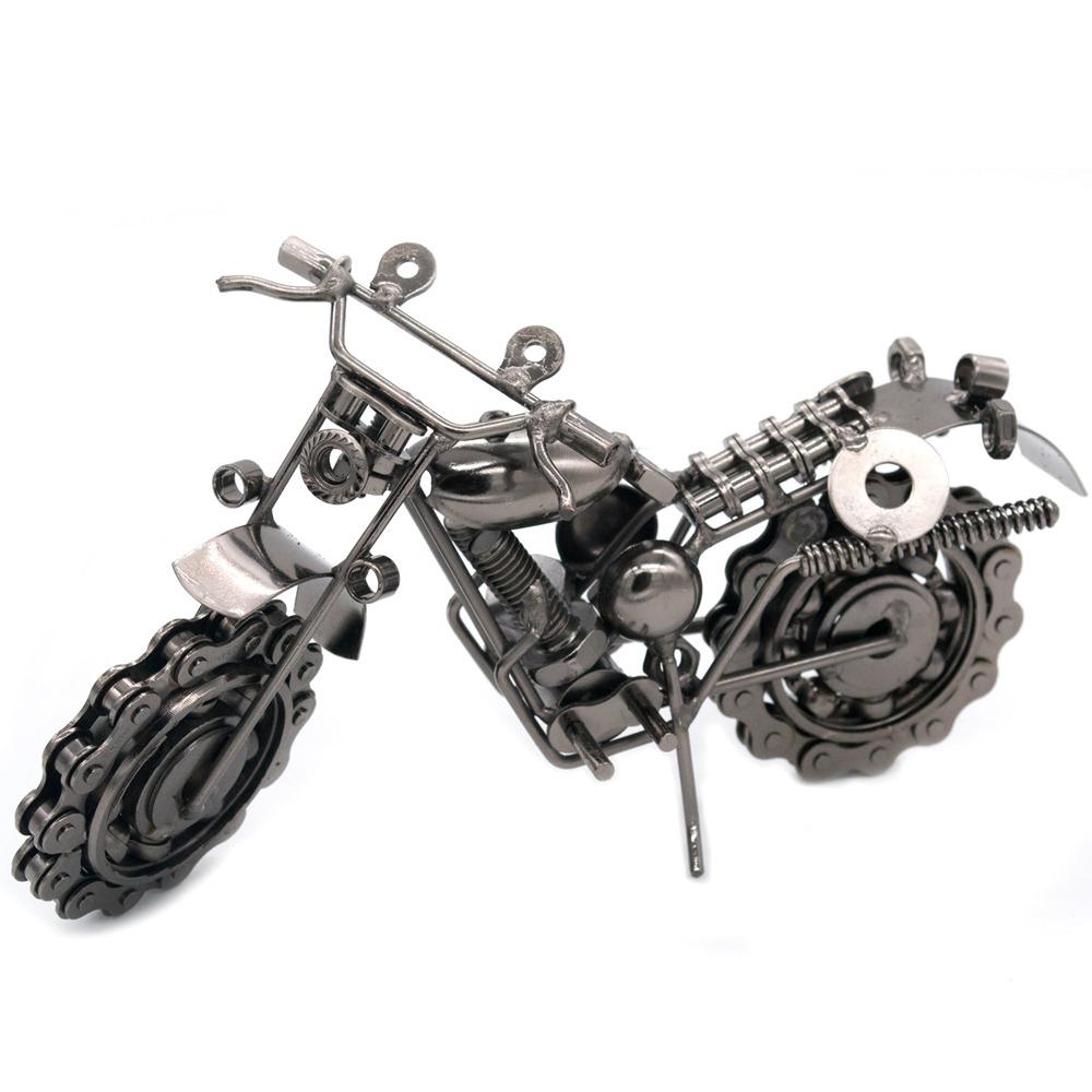 verslo orginalios idomios dovanos vyrams vyrui metalinis motociklas modelis modeliukas  4