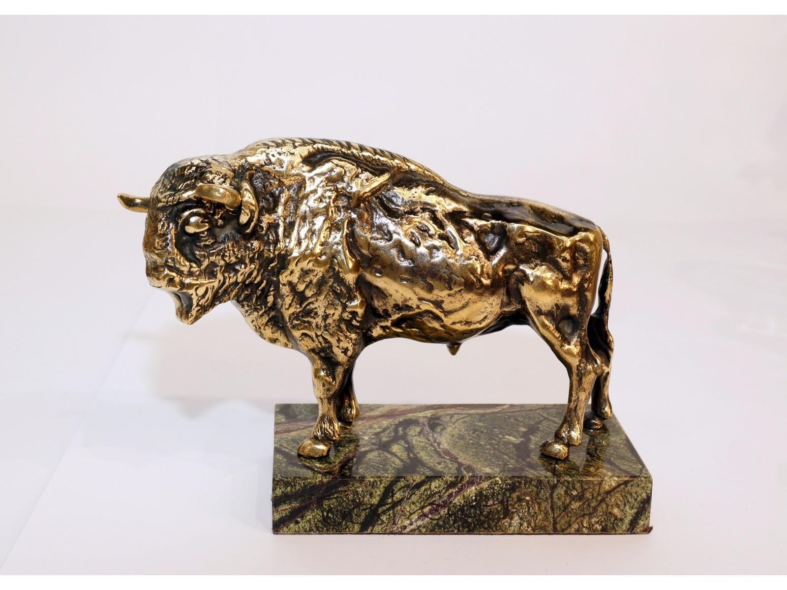aukstos kokybes prabrangios verslo dovanos partnerems bronzinis varinis stumbras bizonas jautis100