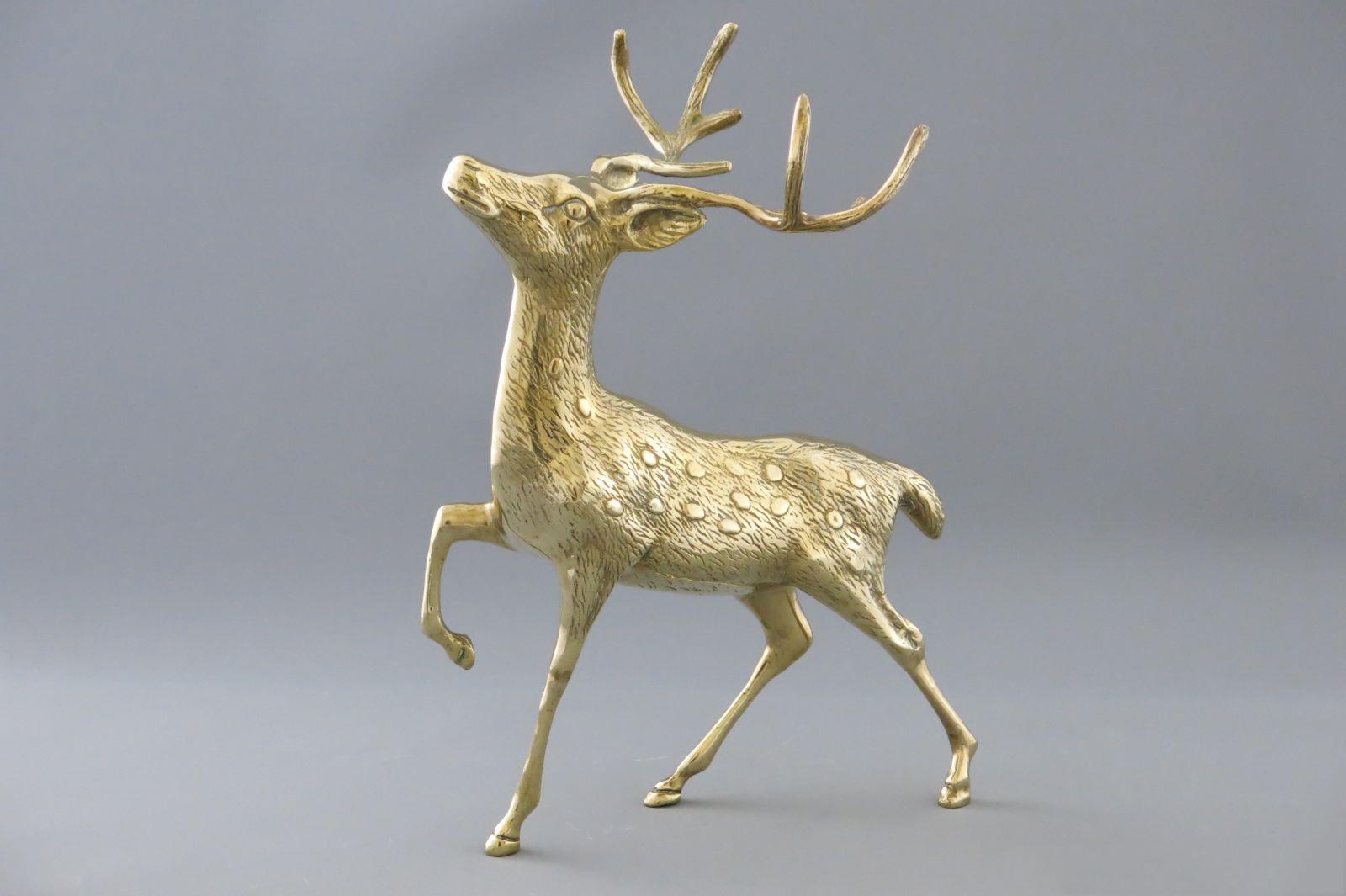 aukstos kokybes prabrangios verslo dovanos partneriams bronzinis varinis zalvarinis auksinis   briedis stirna bembis elnias deer brass 112