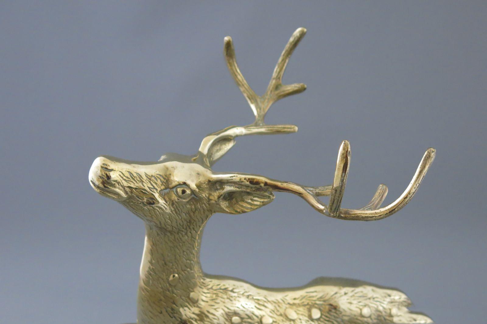 aukstos kokybes prabrangios verslo dovanos partneriams bronzinis varinis zalvarinis auksinis briedis stirna bembis elnias deer brass  113
