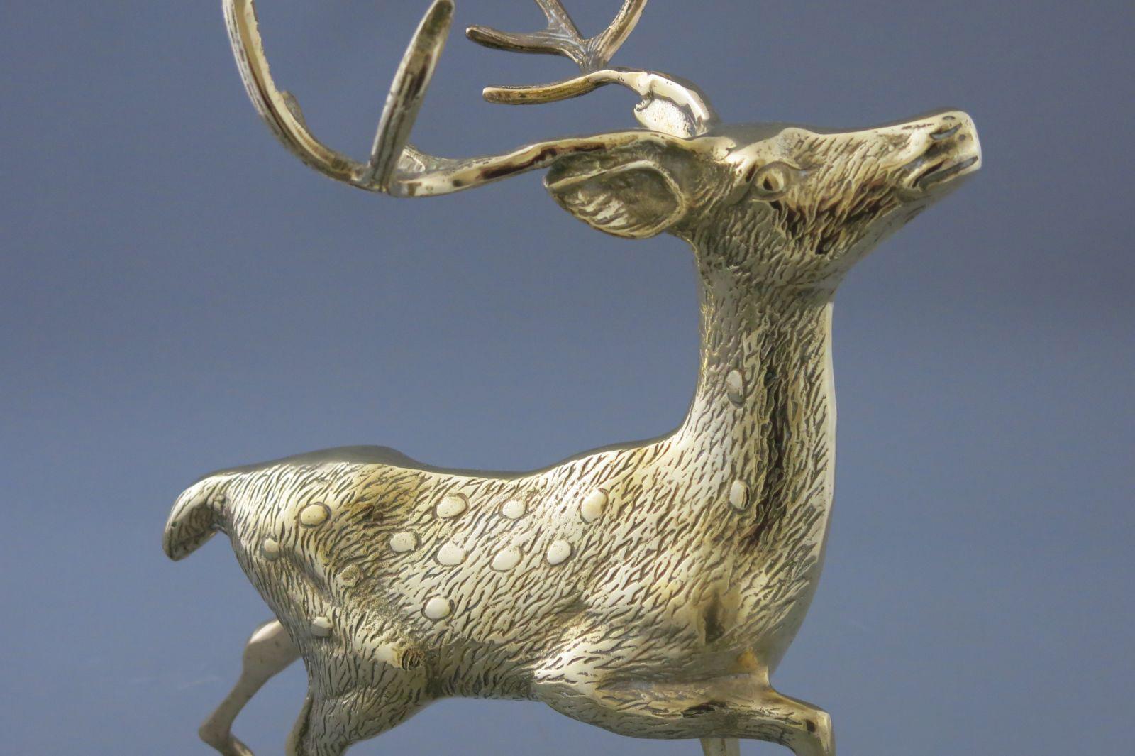 aukstos kokybes prabrangios verslo dovanos partneriams bronzinis varinis zalvarinis auksinis  briedis stirna bembis elnias deer brass  auksinis 111
