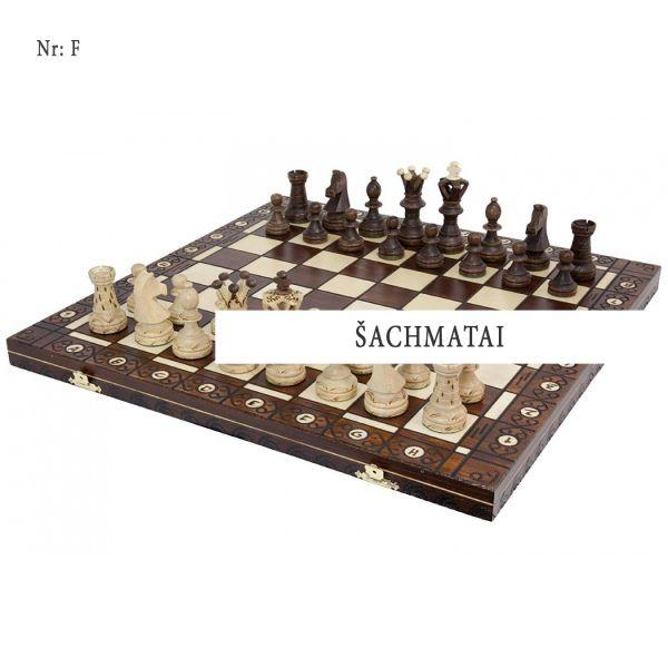 Šachmatai - Dovanos tėčiui mediniai metaliniai