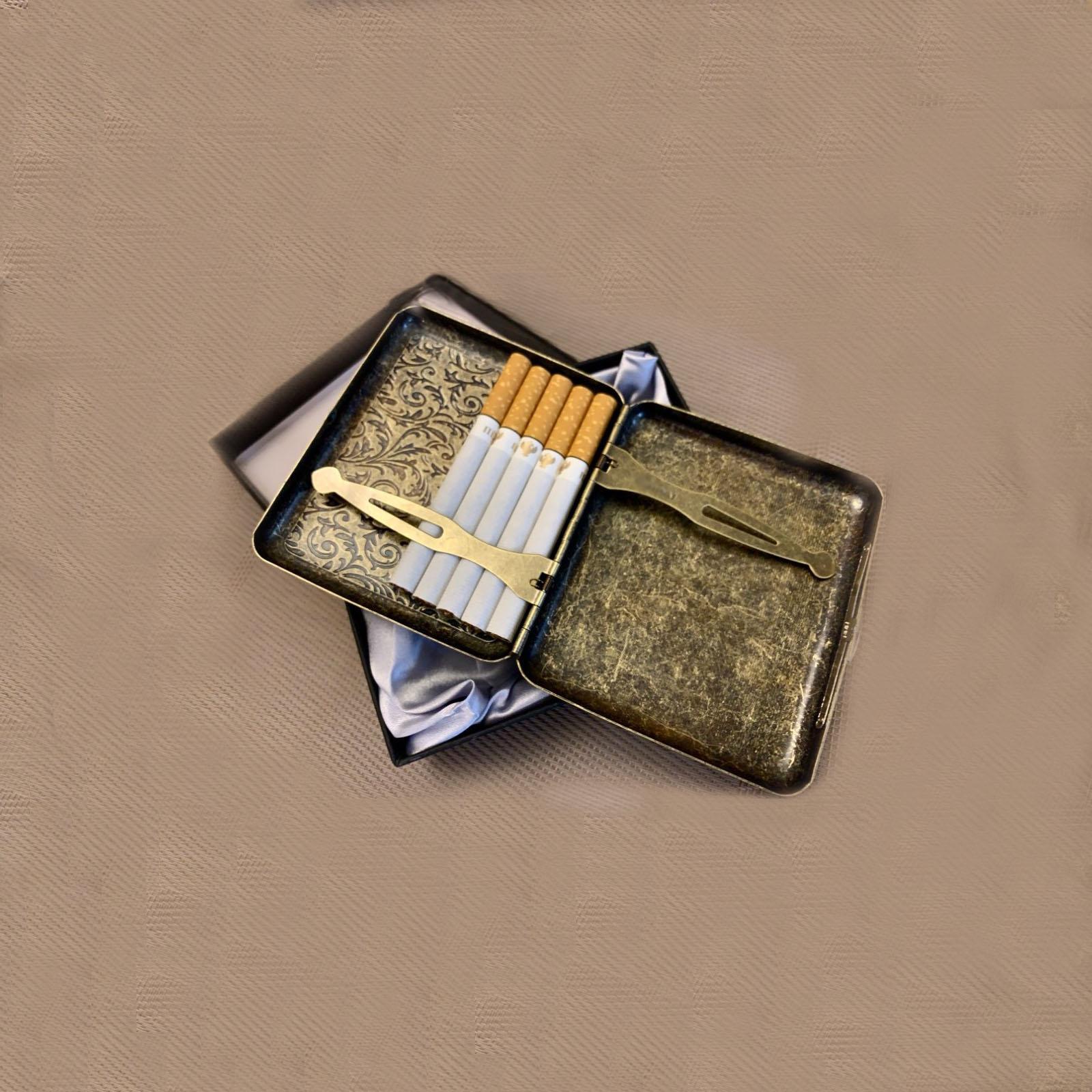 postsigarai postcigarai dezutes  kiseninis cigareciu deklas dovana teciui vyrui vyrams  jubiliejaus gimtadienio progra metalinis kokybiskas varinis zalvarinis bronzinis metalisnis 3