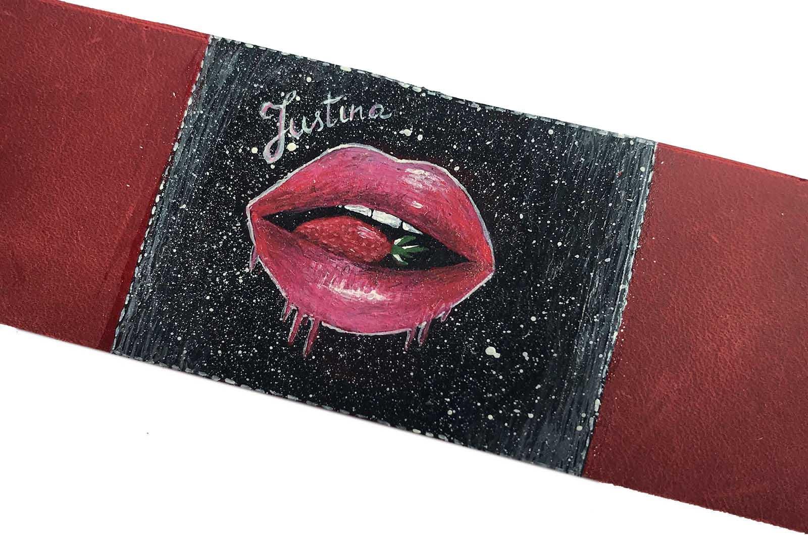 raudona odine apyranke su piesiniu ranku dabo naturalio odos moteriska apyranke dovanos moterims merginoms panelems gimtadienio proga2
