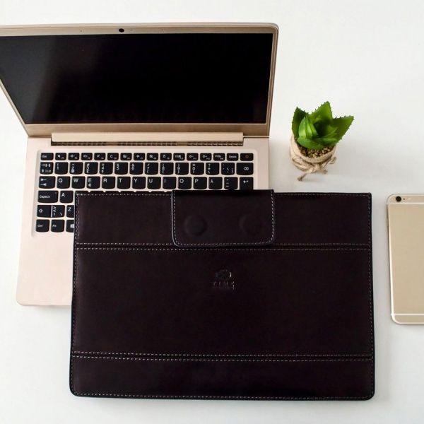 Dokumentų ir kompiuterio dėklas - didelė delninė iš odos - dovanos moterims