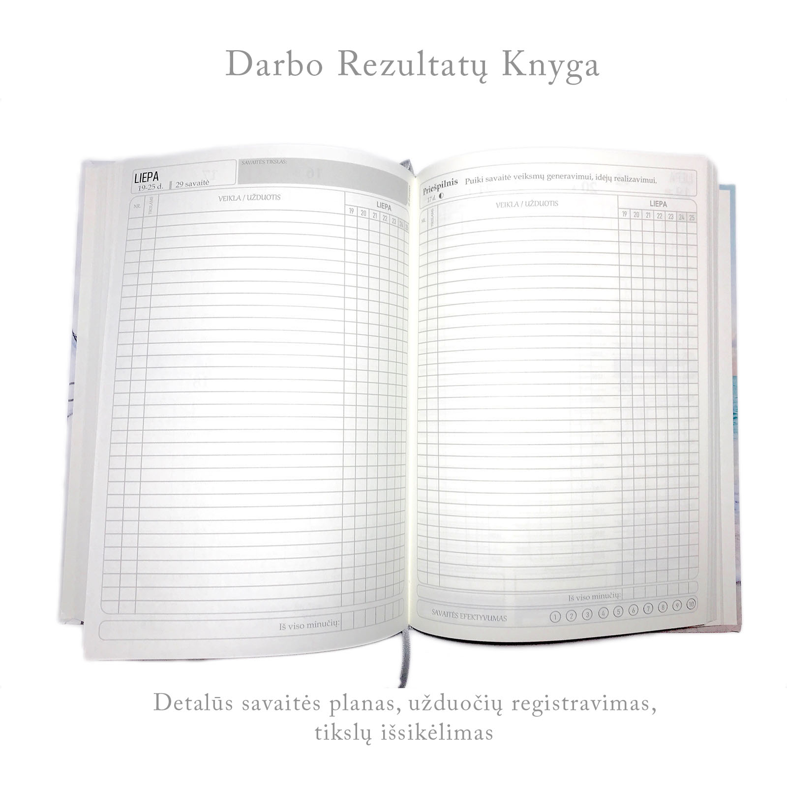 darbo knyga uzrasine rezultatu suvestine issikeltu tikslu sekimas ir registravimas dovanos vyrams gimtadienio verslo imonems partneriams biuro dovanos ofisui  2