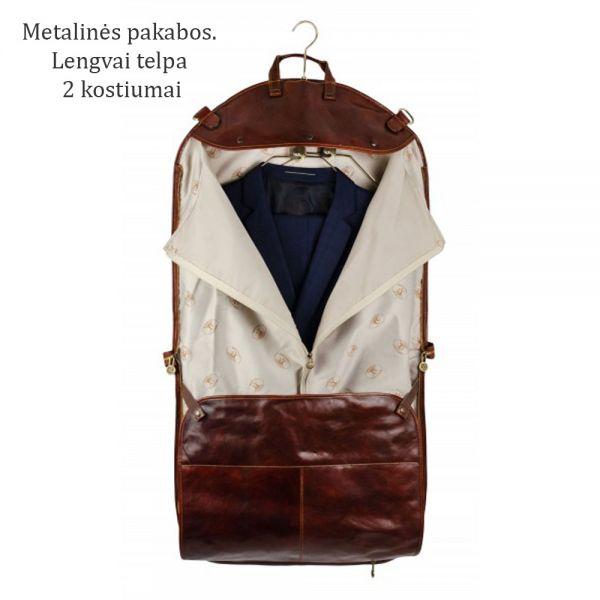 odine drabuciu tase deklas odinis italiskas krepsys komandiruotems  aprangai atostogu drabuziams verslui isvykoms dovana praktiska vyrui teciui sunui keliautojui is naturalios odos