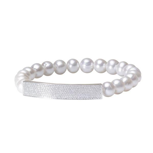 blizgi cirkonio apyranke 2021 2022 metu dizaino originali apyranke is tikru perlu su naturaliais perlais moterims dovanos gimtadieniui sidabrine uzsegama is tikru perlu kultivuotu mamai sesei dukrai zmonai merginai meiluzei L184 65B 9m