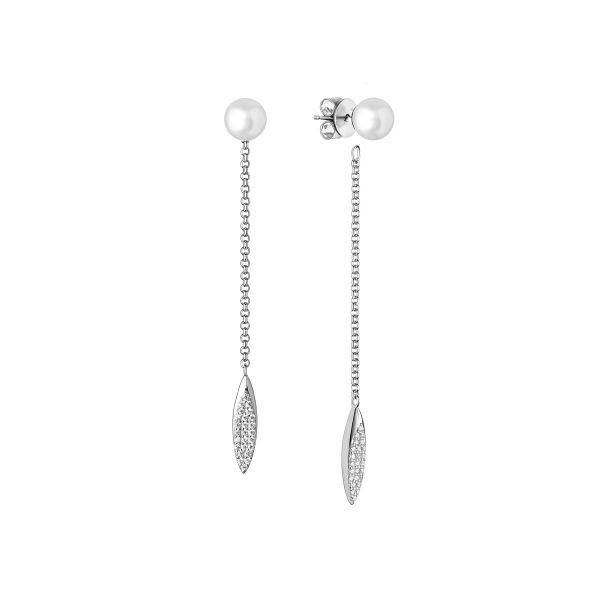 cirkoniu akmenukai kabantys sidabriniai auskarai tikri perlu auskarai moterims is naturaliu dovanos gimtadienio jubiliejaus kaledoms moterims mamai mamai zmonai merginai  panelei meiluzei dukrai mociutei sesei 15r