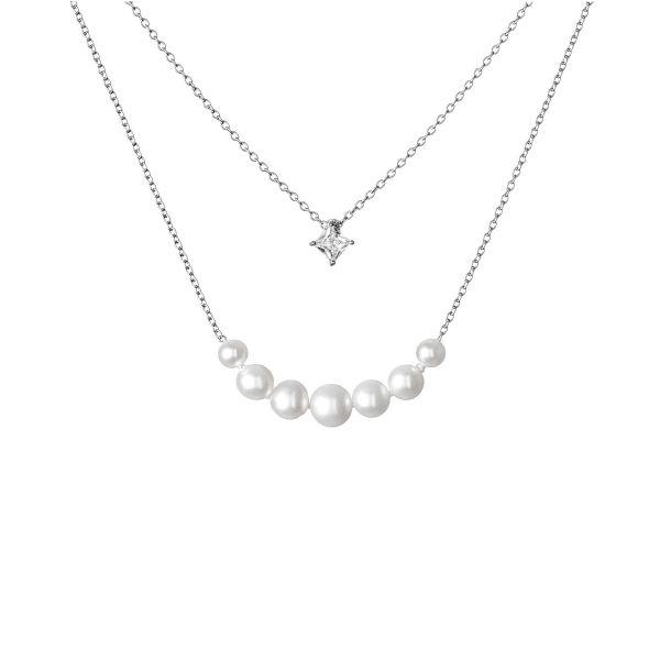 sidabrine grandinele su perlais verinys karoliai is tikru perlu naturalus karoliai kaklo papuosalas prabangios prabangios brangios dovanos gimtadienio jubiliejaus vestuciu metiniu moterims zmonai merginai meiluzei sesei dukrai mamai 22e2