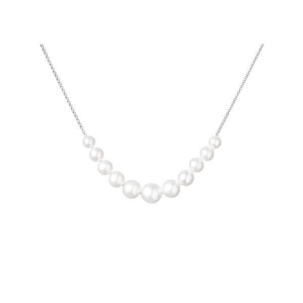 sidabrinie grandinele pakabukas su tikrais naturalus perlais verinys perlinis kaklo papuosalas prabangios brangios dovanos gimtadienio jubiliejaus vestuciu metiniu moterims zmonai merginai meiluzei sesei dukrai mamai 18r11m