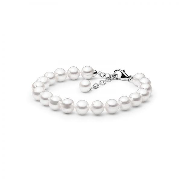 apvaliu perlu apyranke su tikrais perlais dovana moterims kaledoms gimtadieniui sidabrine uzsegama apyranke is naturaliu perlu kultivuotu mamai sesei dukrai zmonai merginai meiluzei FARW695 B